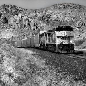 Arizona Train BW