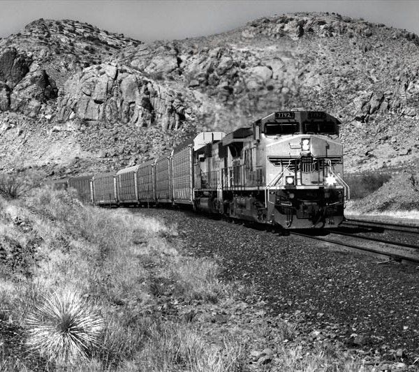 Arizona Train BW