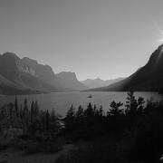 Glacier Lost Goose Sunset