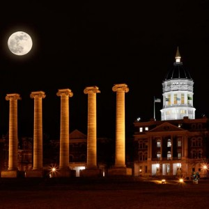 Mizzou Lunar Night Columns