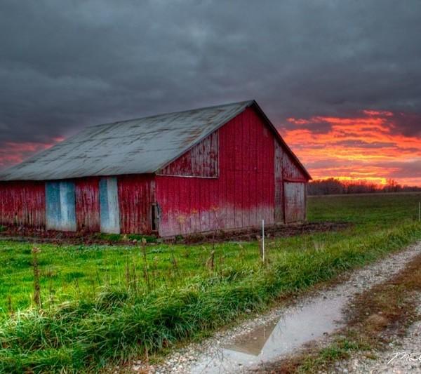 Sunset Over Grandpa's Barn
