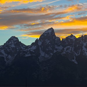 Tetons Golden Sunset