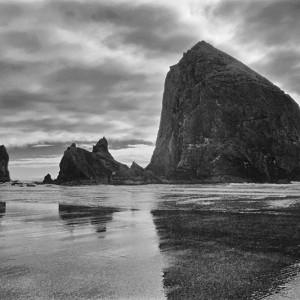 Cannon Beach Haystack Rock Reflection