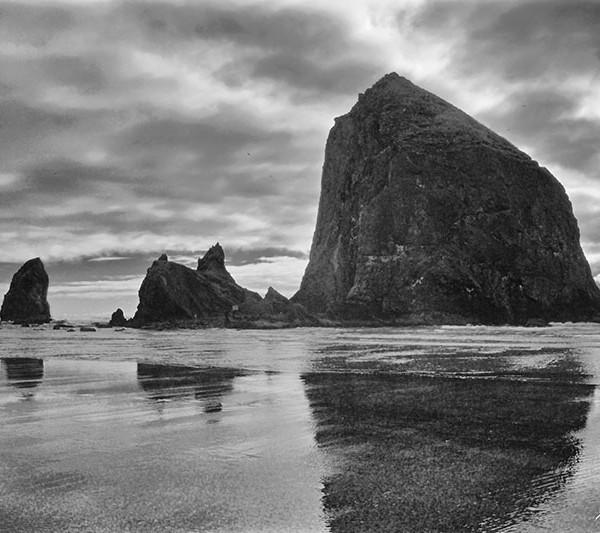Cannon Beach Haystack Rock Reflection