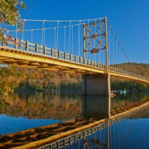 Arkansas Beaver Bridge Autumn Reflections