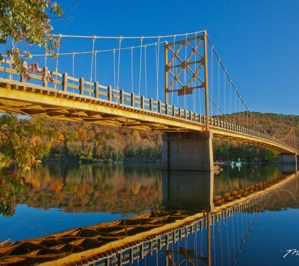 Arkansas Beaver Bridge Autumn Reflections