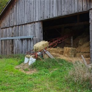 Vermont Autumn Hay Barn