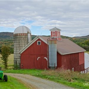 Vermont Barn Autumn Vista