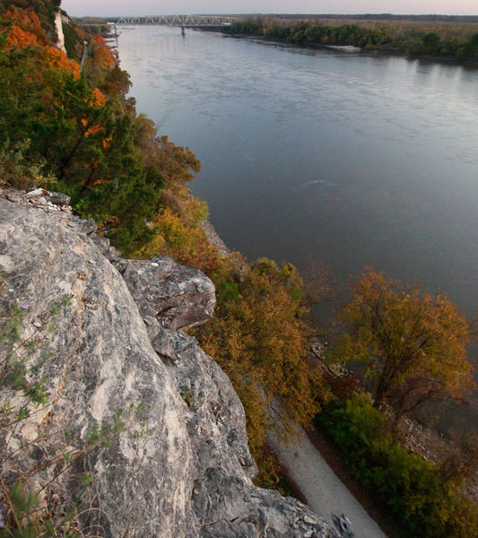 Missouri River Bluff and KATY Trail