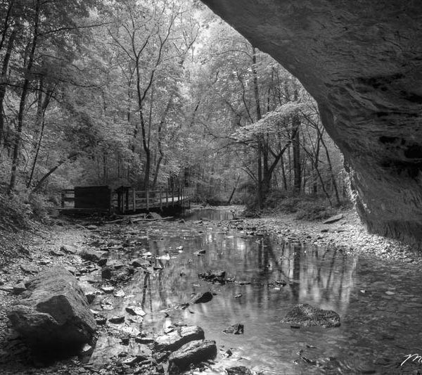 Rock Bridge Window BW