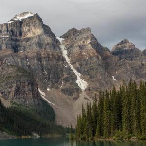 Alberta Rockies Lake Moraine Peaks