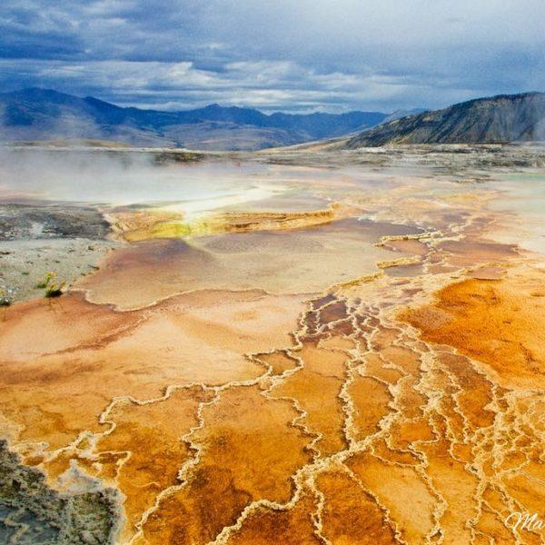 Yellowstone Mammoth Hot Sulphur Spring II-1