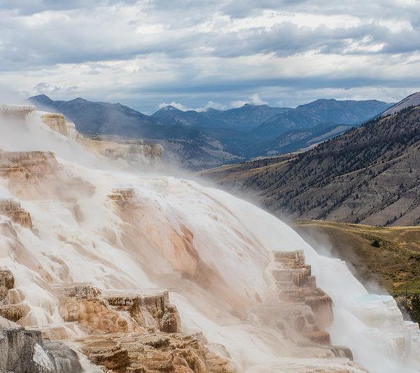 Yellowstone Mammoth Sulphur Falls