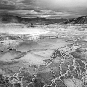 Yellowstone Mammoth Sulphur Spring II BW