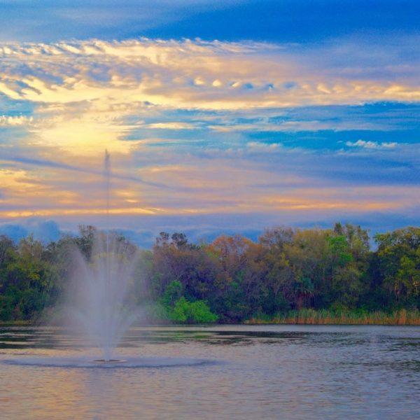 Lake Fountain Sunrise