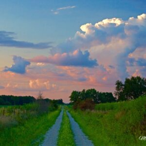 Country Road Thunderhead Sunset