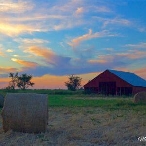 Fire Sky Barn Sunset