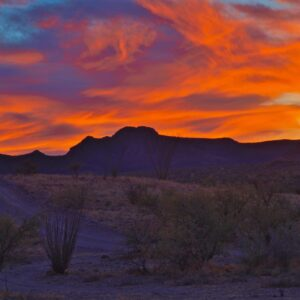 Sierrita Fire Sky Sunset