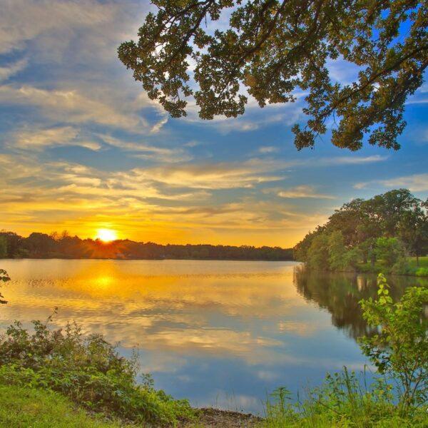 Shelbina Lake Golden Sunburst Sunset